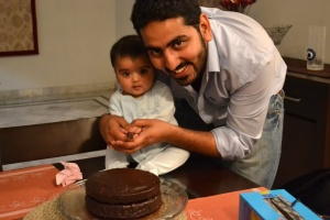 My two favourite guys plus a chocolate cake ~ Bliss!